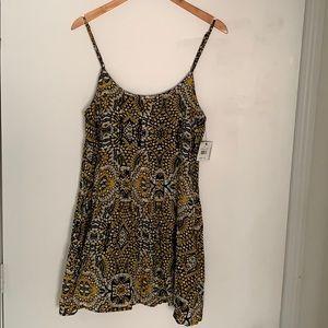Volcom mini  black & yellow dress size M new